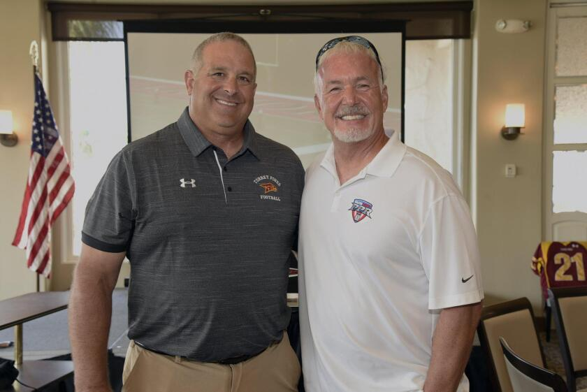 Football Coach Ron Gladnick, KUSI sports broadcaster Paul Rudy