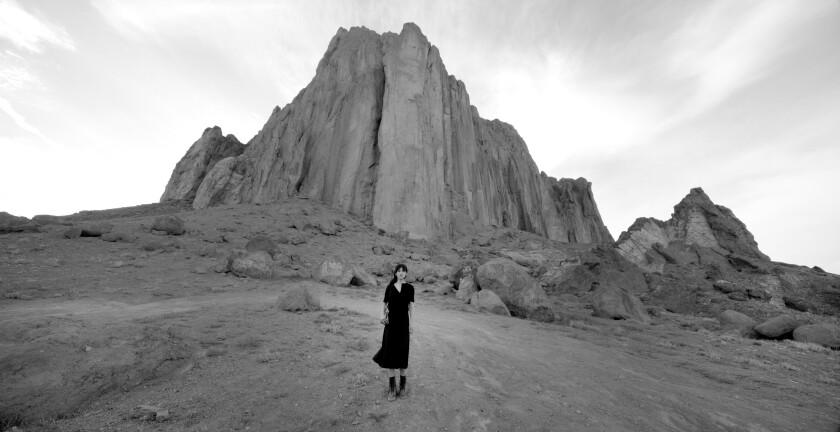 "A video still from Shirin Neshat's ""Land of Dreams."""