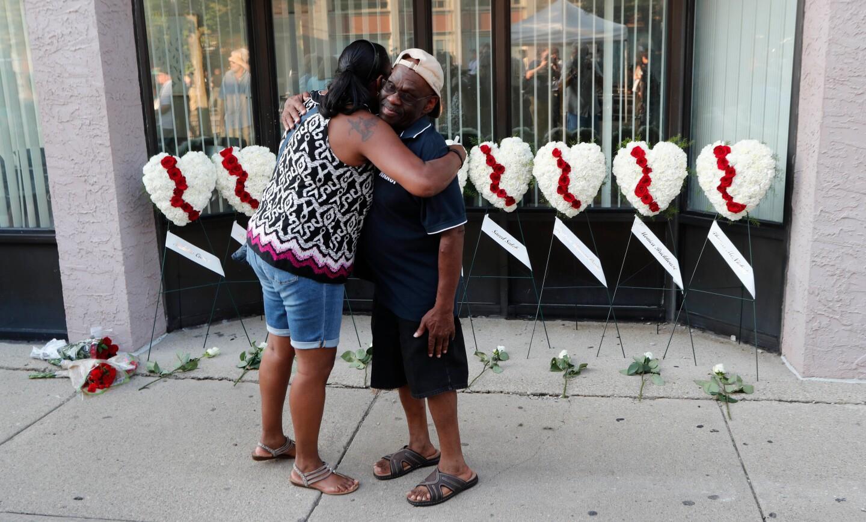 Dayton mass shooting aftermath, USA - 04 Aug 2019