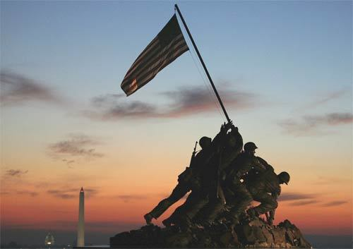 Sunrise over memorial