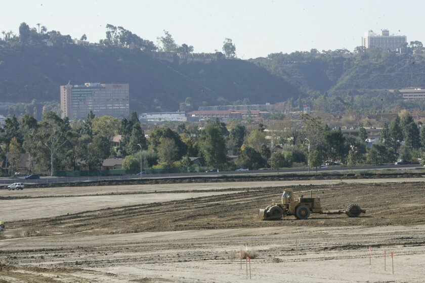 Grading has begun on the 230.5-acre Civita project in Mission Valley.