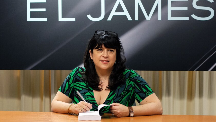 "Author E.L. James, who is dominating bestseller lists with her new book ""Grey: Fifty Shades of Grey as Told by Christian,"" is worth about $58 million."