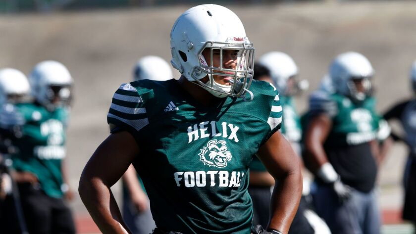Helix senior Ezekiel Noa is the San Diego Section's only two-time Defensive Player of the Year.
