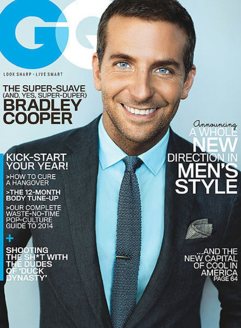 """""""American Hustle"""" actor Bradley Cooper is GQ's January 2014 cover star."""