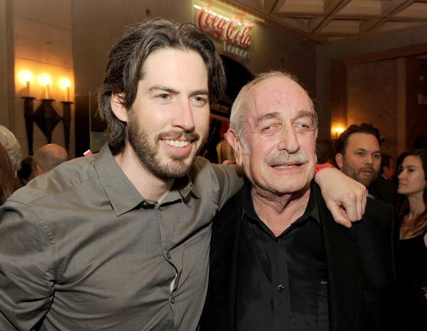 Tom Pollock, right, with director Jason Reitman at an AFI event in 2012.