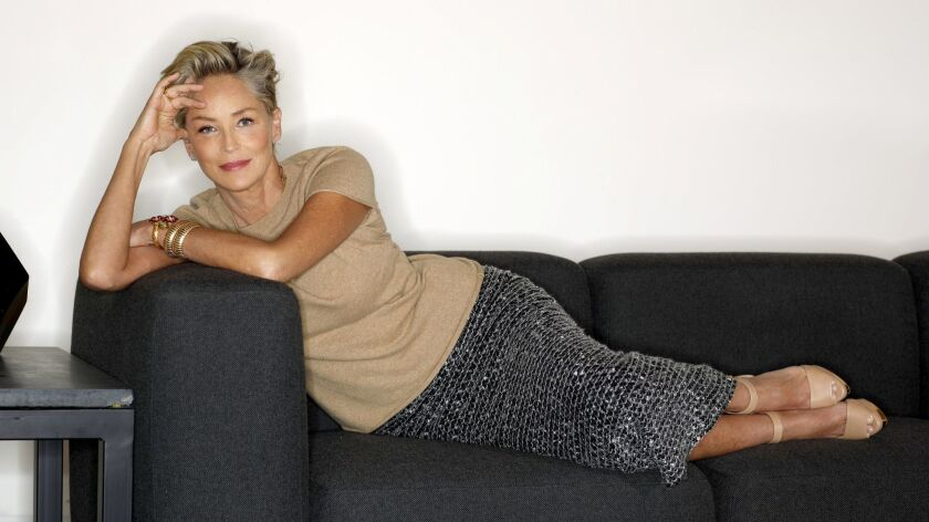 HOLLYWOOD, CA--APRIL 26, 2018--Sharon Stone stars in a HBO series about exploring the psychological