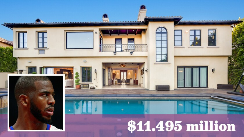 Los Angeles Clippers point guard Chris Paul has put his home in Bel-Air on the market.
