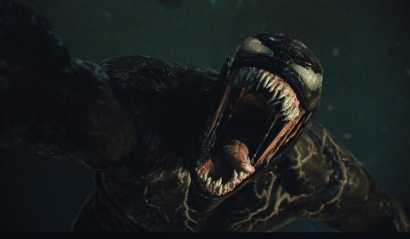 """En esta imagen difundida por Sony Pictures Entertainment, una escena de """"Venom: Let There Be Carnage""""."""