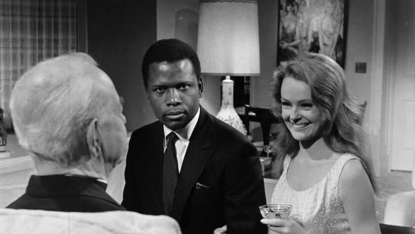 """Sidney Poitier and Katharine Houghton star in """"Guess Who's Coming to Dinner."""""""