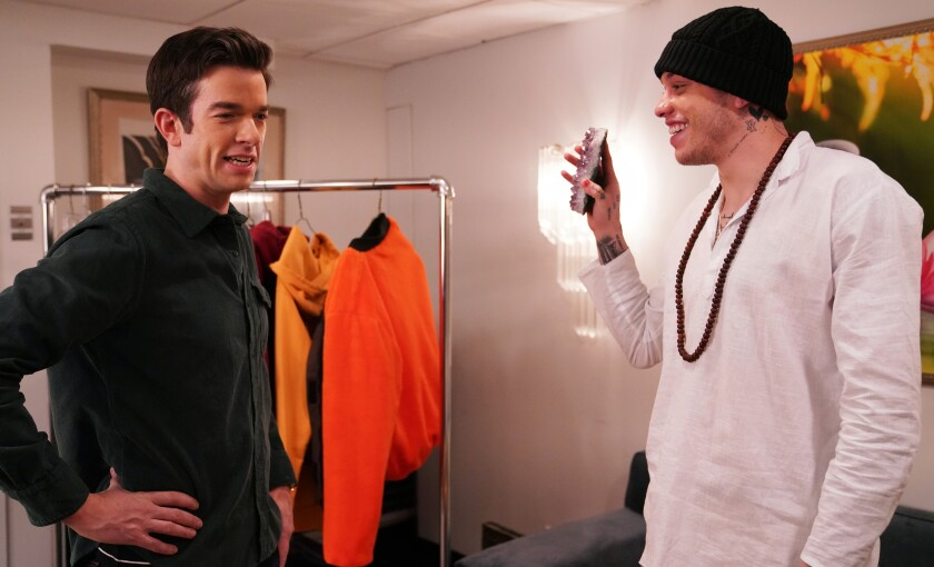 """John Mulaney,left, and Pete Davidson in """"Saturday Night Live"""" on NBC."""