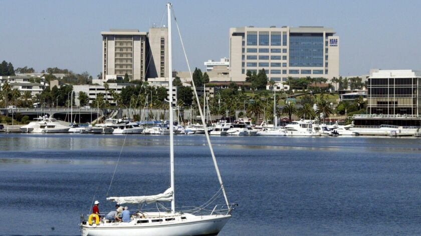 Hoag Hospital as seen from the Via Lido bridge in Newport Beach. Demonstrators said they will protes