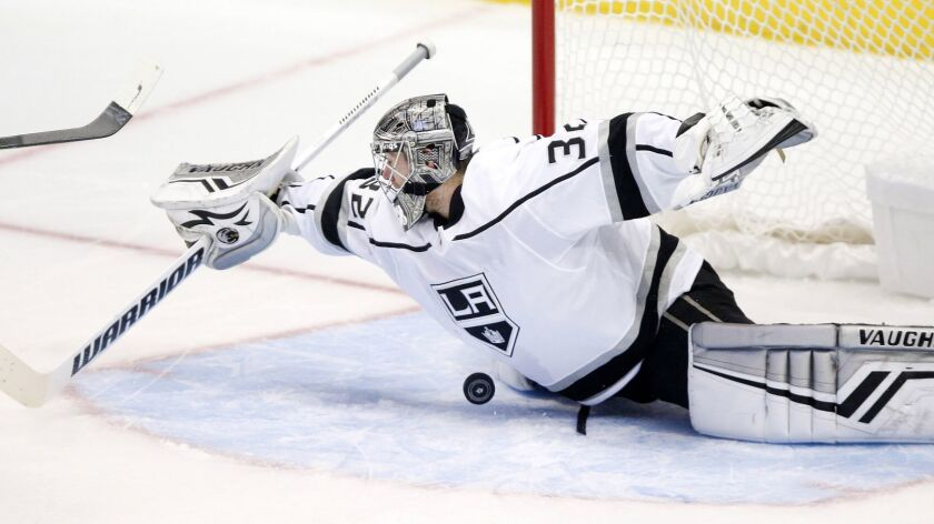 Kings goalie Jonathan Quick is out indefinitely following knee surgery
