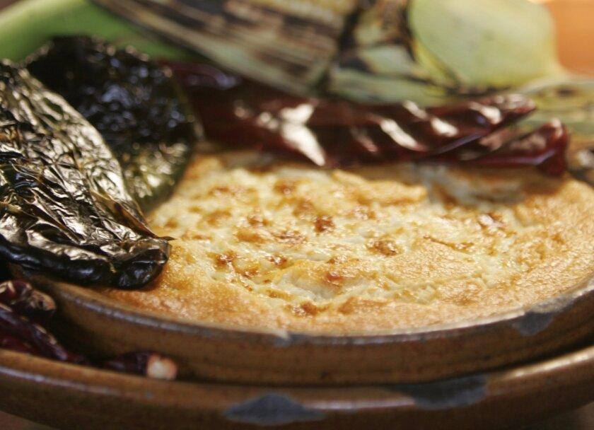 Chef Deborah Scott created Indian Corn Pudding for Indigo Grill.