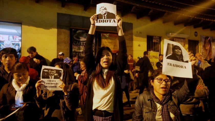 Protests as CICIG leaves Guatemala, Guatemala City - 08 Jan 2019