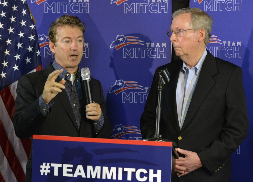Mitch McConnell, Rand Paul