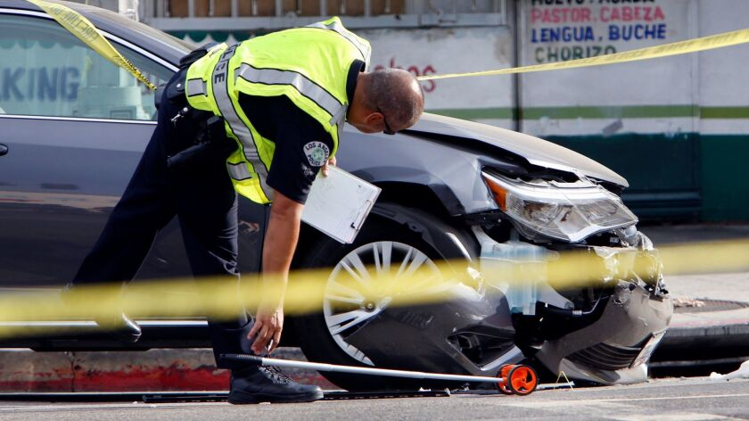 LOS ANGELES, CA JULY 28, 2014 -- An investigation is underway after a pickup truck collided with an
