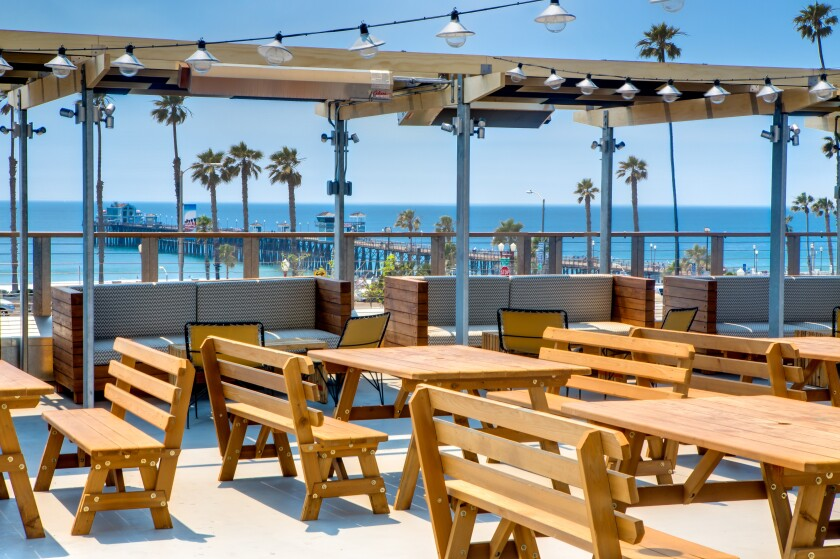Hello Betty Fish House in Oceanside has an unobstructed view of the Oceanside Pier from its second floor dining patio.