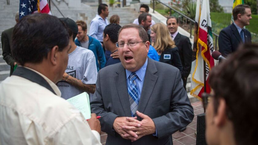 City Councilman Paul Koretz, whose district includes Beverly Grove, supported Rick Caruso's La Cienega project. He has received $2,200 in donations from Caruso since 2011.