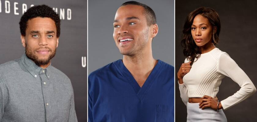 """Michael Ealy, left, Jesse Williams and Nicole Beharie will star in the re-imagining of the 1990 psychological thriller """"Jacob's Ladder."""""""