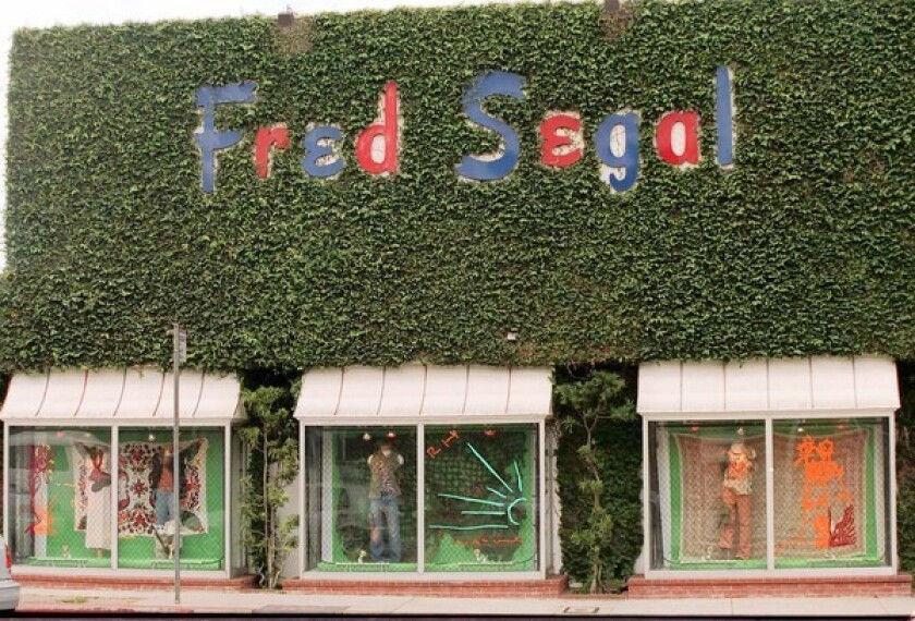 Fred Segal stores in L.A. and Santa Monica sell designer clothing, shoes, accessories, beauty products and more.