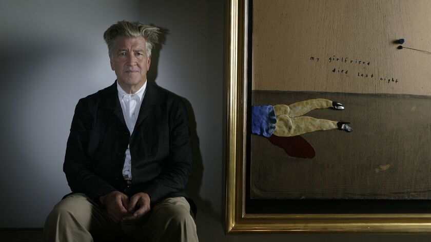 """An image from David Lynch and Kristine McKenna's book """"Room to Dream"""". Lynch(center) on the set"""