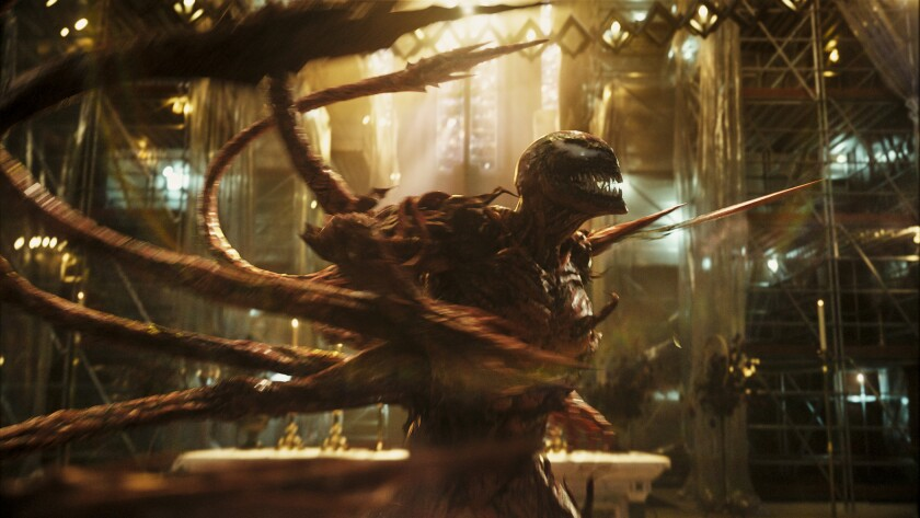"""The alien creature from """"Venom: Let There Be Carnage."""""""