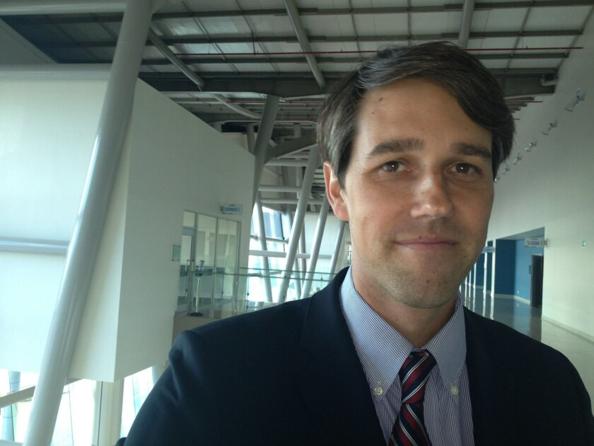 U.S. Rep. Beto O'Rourke, D-El Paso, during a visit to the San Diego-Tijuana border.