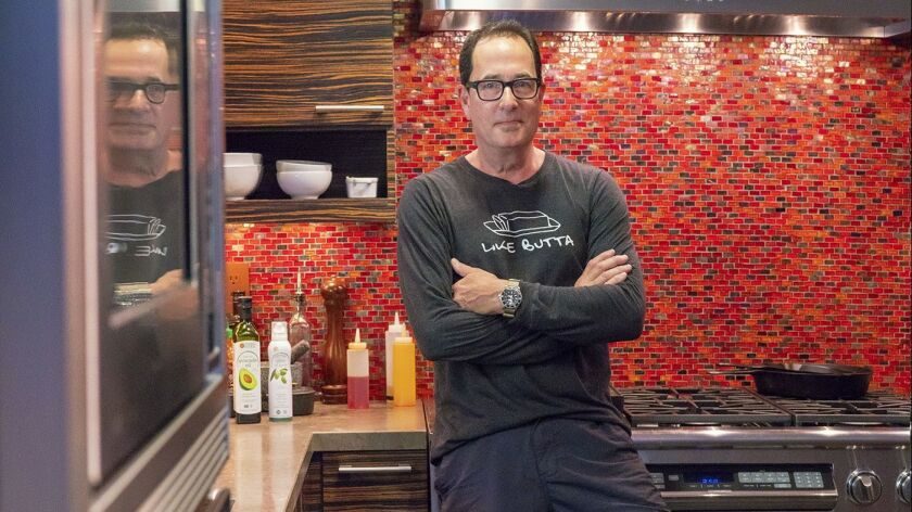 Local celebrity chef , Sam Zien this home kitchen where he works from for his television show. Earl
