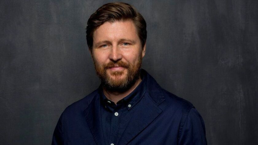"""Director Andrew Haigh from the film, """"Lean on Pete,"""" photographed at the L.A. Times HQ at the 42nd Toronto International Film Festival, in Toronto, Ontario, Canada, on Monday, Sept. 11, 2017."""