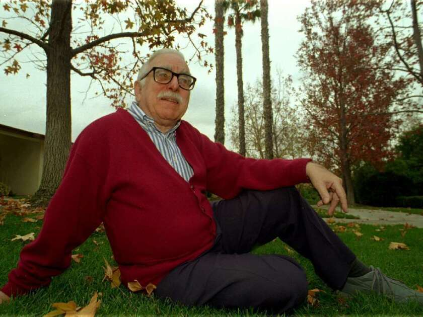 Tom Koch, seen here in 1996, wrote some of the most beloved comedy bits for Bob and Ray, but he met the duo in person only a handful of times.