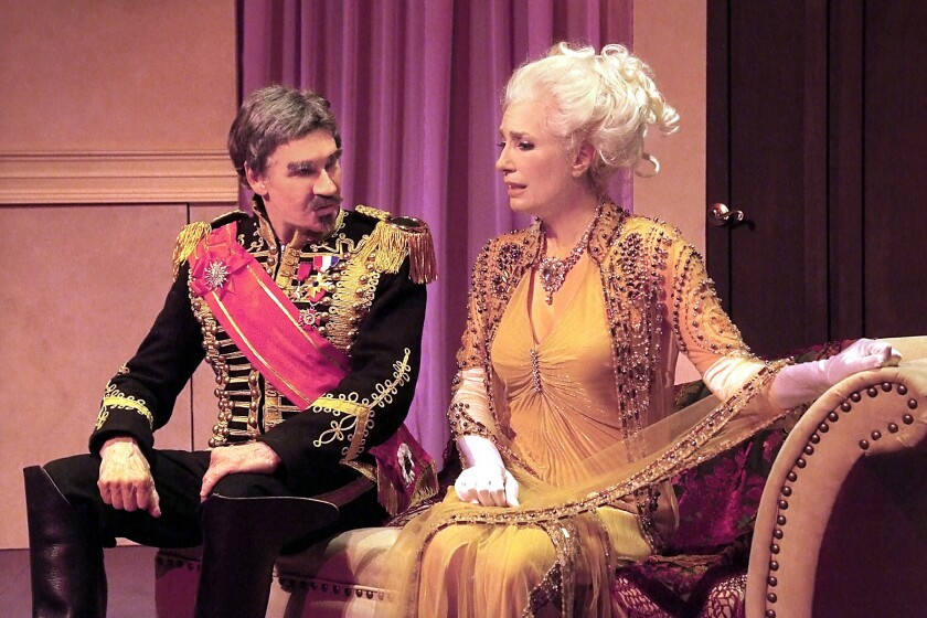 """Henry Olek and Susan Priver in """"The Guardsman"""" at NoHo Arts Center"""