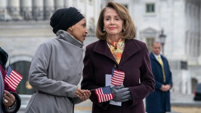 Rep. Ilhan Omar and Speaker Nancy Pelosi