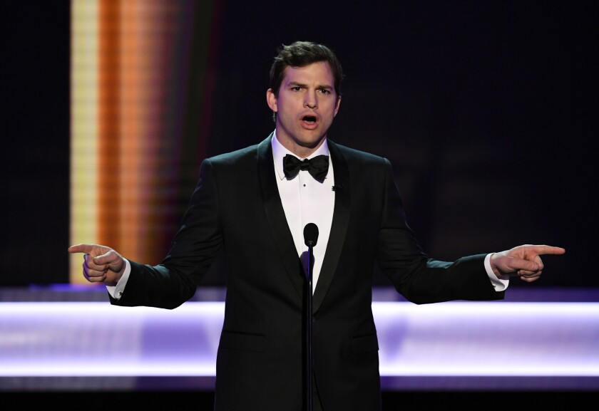 Ashton Kutcher at the 23rd Screen Actors Guild Awards in 2017.