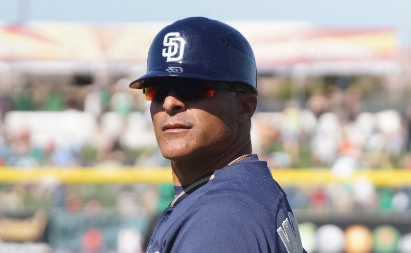 Jose Valentin is in his first year of coaching first base for the Padres. The 16-year MLB veteran managed low Single-A Fort Wayne the last two seasons.