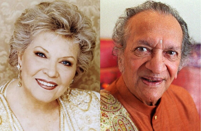 Music legends Patti Page and Ravi Shankar both received the Grammy Lifetime Achievement Award posthumously Saturday at the Grammy Awards' invitation-only Special Merit ceremony in Los Angeles. Both were Encinitas residents.