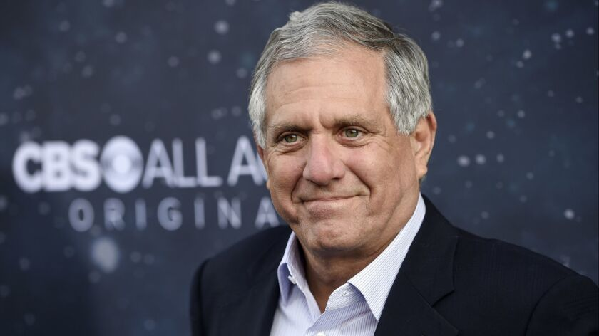 "Leslie Moonves, former chairman and CEO of CBS Corp., appears at the premiere of the new television series ""Star Trek: Discovery"" in Los Angeles in 2017."