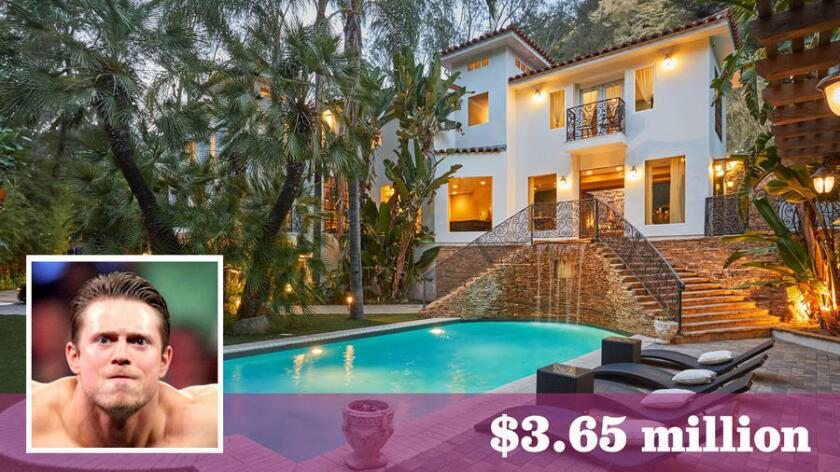 """Professional wrestler Mike """"The Miz"""" Miznanin has listed his home in Hollywood Hills West for sale at $3.65 million."""