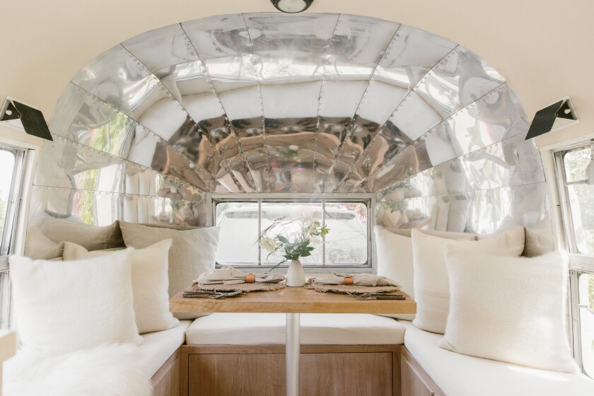 Inside the Jenni Kayne airstream, which will be at One Paseo Dec. 9-15.
