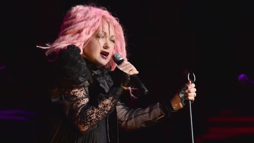 Cyndi Lauper performs in concert at the Beacon Theatre on May 25  in New York City.