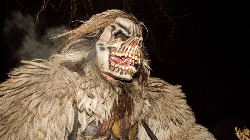 "An image from ""The Krampus and the Old, Dark Christmas: Roots and Rebirth of the Folkloric Devil"" by Al Ridenour"