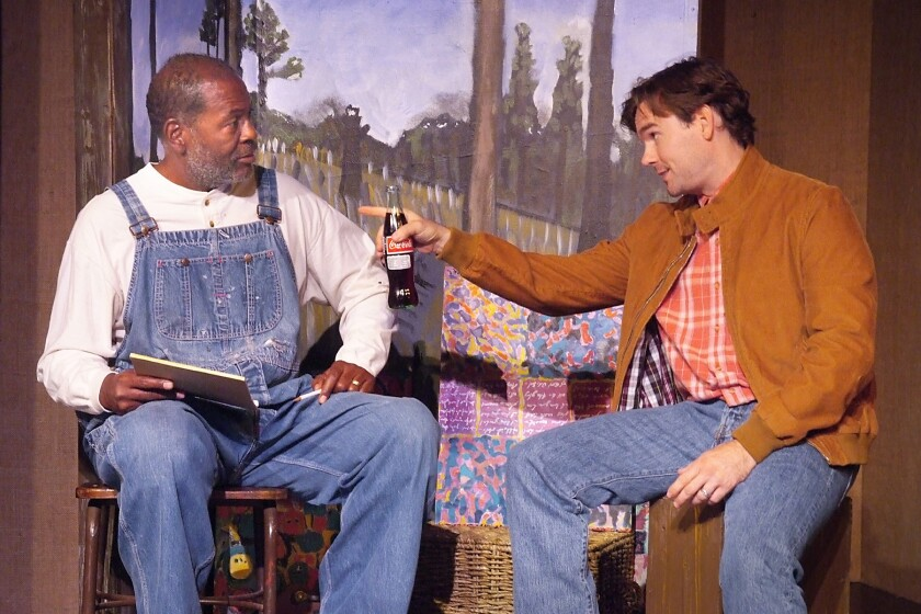 """Jimmer Bolden and Will North in """"Visionary Man"""" at the Hudson Mainstage"""
