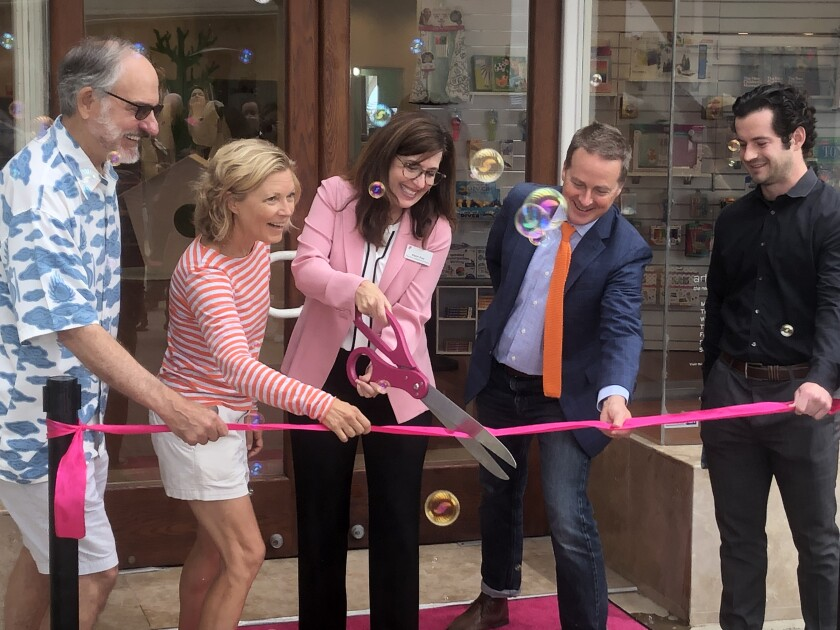 A ribbon cutting ceremony marked the opening of the Art + Play Space in Del Mar.