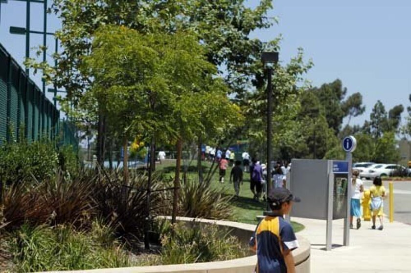 La Jolla Country Day School's landscaping won an award for the Brickman Group. Photo: LJCDS