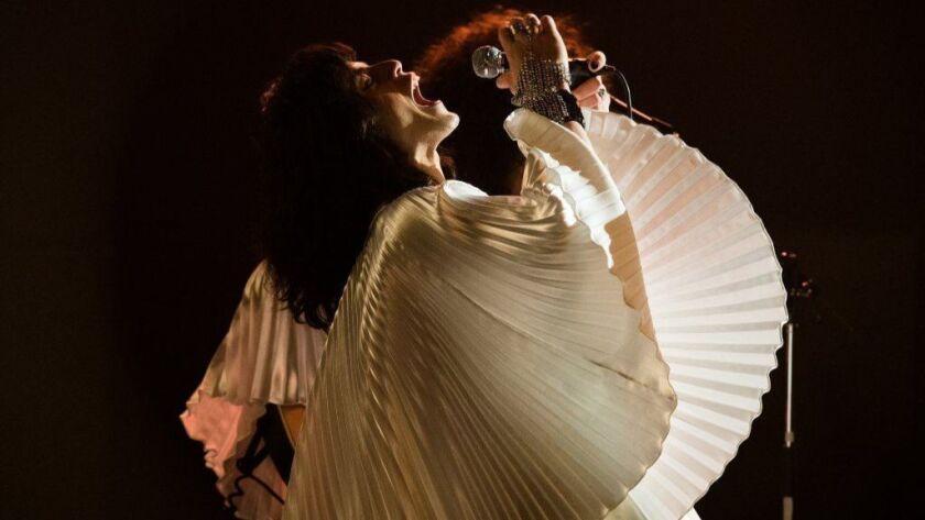 "Rami Malek as rock icon Freddie Mercury in ""Bohemian Rhapsody."""