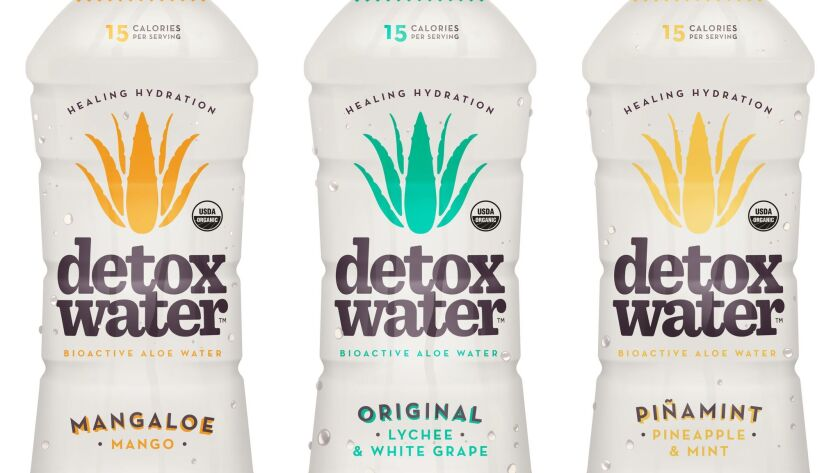 Three flavors of Detox Water.
