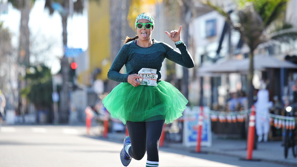 Runners donned their finest green at the Leprechaun Run in Pacific Beach on Saturday, March 16, 2019.