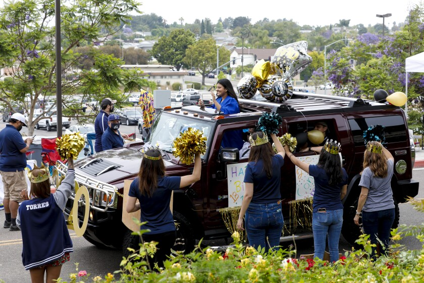 Sweetwater Union High School District parade of cars