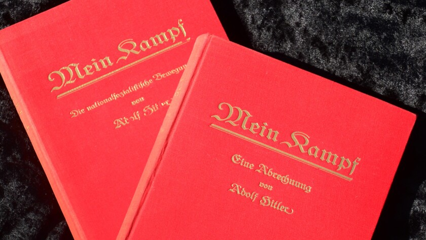 """Original copies of """"Mein Kampf"""" by Adolf Hitler. A new edition is set for release in Germany for the first time since WWII."""