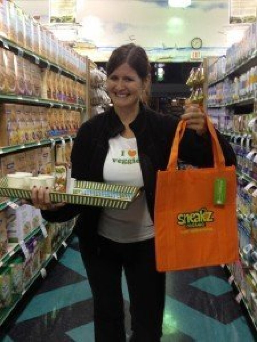 Allison Fowler with her new product Sneakz.