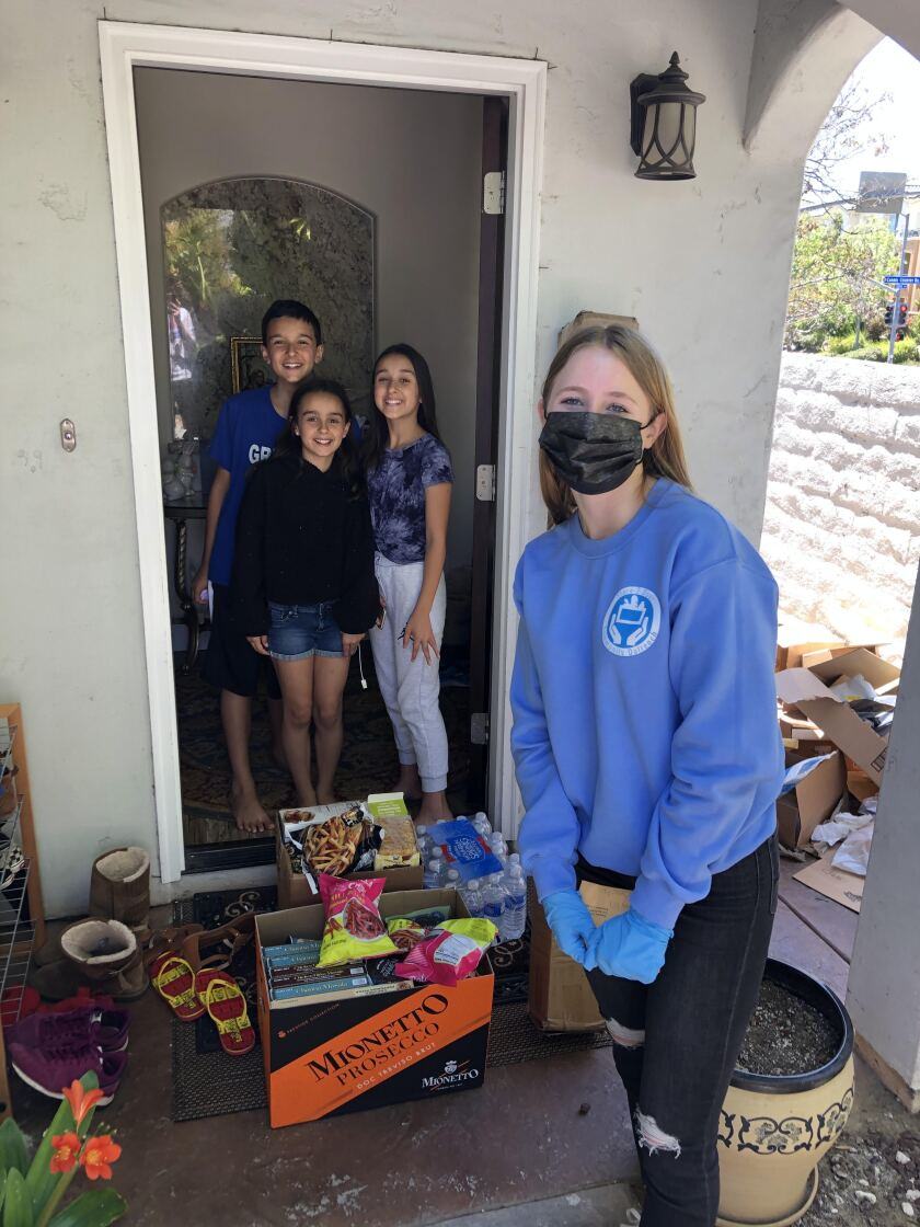 Torrey Pines junior Stella Bruce has been making grocery deliveries for Store 2 Door SD.